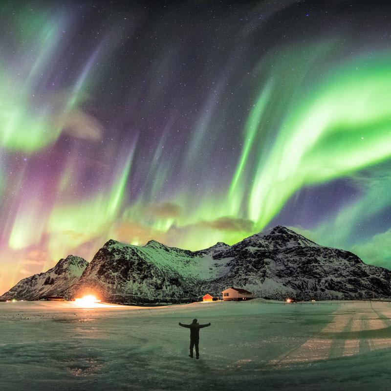viajar a la aurora boreal